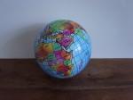地球儀ボール  水色ベース