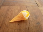 食品サンプル  オレンジバニラ ミニアイスコーン