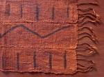 アフリカ綿手織り  泥染めミニクロス  フリンジ付き