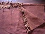 アフリカ綿手織り  泥染めマルチクロス無地  フリンジ付き