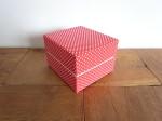 ギフトBOX 赤地×ホワイトドット柄