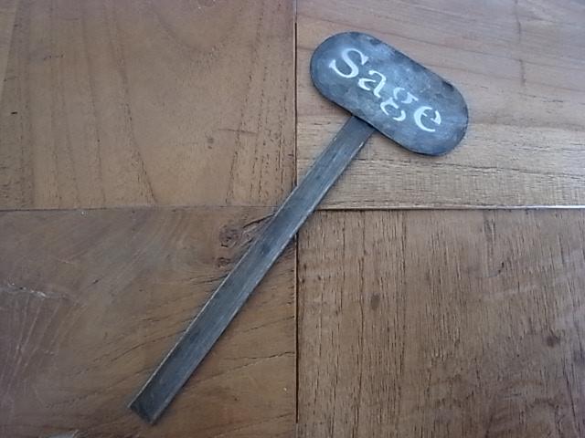 ブリキネームプレート  Sage