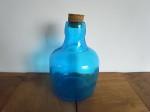 コルク栓  ブルーガラスボトル