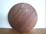 丸 ブラウン木製マット