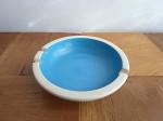 陶器灰皿 ターコイズブルー