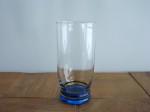 タンブラーグラス 底ブルー 全2個