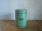 アンティーク ティン製キャニスター TEA