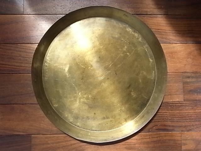 アンティーク 真鍮ラウンドトレイ