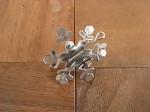 シルバー 結晶型オーナメント S 全4個