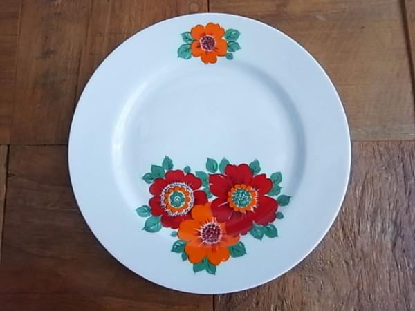 ドイツ アンティーク 花柄デザートプレート